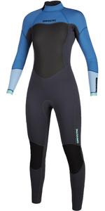 2020 Mystic Das Mulheres Brand 3/2mm Back Zip Wetsuit 200080 - Azul Mentol