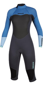 2020 Mystic Brand Women 3/2mm Long Arm Short Leg Back Zip Wetsuit 200081 - Azul Mentol