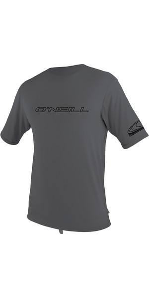 2019 O'Neill Basic Skins Kurzarm Rash T-Shirt Rauch 3402