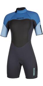 2020 Mystic Frauen 3/2mm Back Zip Shorty Neoprenanzug 200084 - Menthol Blau