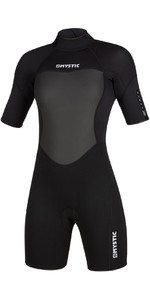 2020 Mystic Women 3/2mm Back Zip Shorty Wetsuit 200084 - Preto