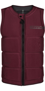2020 Mystic Star Impact Vest Chaleco Con Front Zip 200182 - Oxblood Red