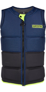 2020 Mystic Marshall Impact Vest Front Zip 200181 - Navy / Lime