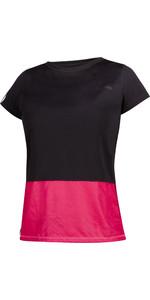 2021 Mystic Womens Diva Quickdry Short Sleeve Rash Vest 190098 - Azalea