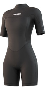 2021 Mystic De Las Mujeres Brand 3/2mm Back Zip Shorty Wetsuit 210323 - Negro