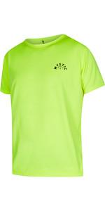 2021 Mystic Mens Voltage Short Sleeve Quick Dry Rash Vest 210141 - Flash Yellow