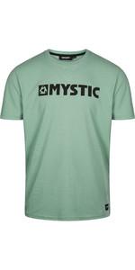 2021 Mystic Mens Brand T-Shirt 190015 - Seasalt Grün