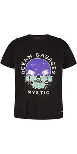 2021 Mystic Women's Sundowner T-shirt 210288 - Sort