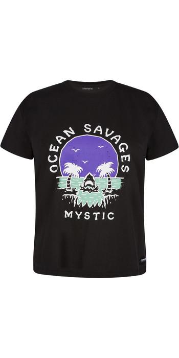 2021 Mystic Frauen Sundowner T-Shirt 210288 - Schwarz
