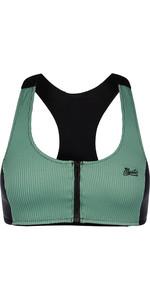 2021 Mystic Damen Bikinioberteil Mit Reißverschluss 210263 - Seasalt Green