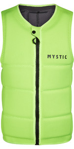 2021 Mystic Brand Front Zip Wake Impact Vest 200183 - Flash Yellow