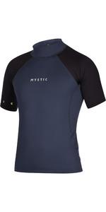 2021 Mystic Hommes Crossfire Manches Courtes Lycra Vest 200148 - Bleu Nuit