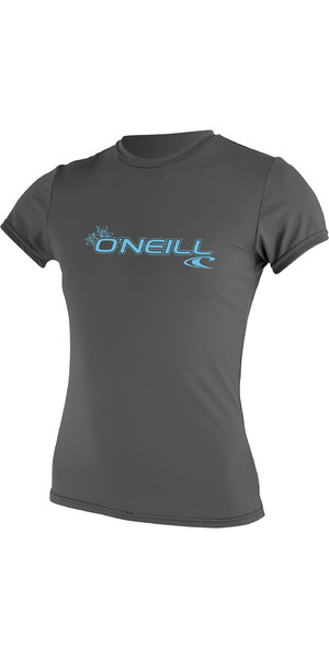 2019 O'Neill Damen Basic Skins Kurzarm Rash Tee Graphite 3547