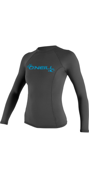 2019 O'Neill Damen Basic Skins Langarm Rundhalsausschnitt-Weste Graphite 3549