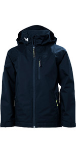 2019 Helly Hansen Junior Crew Midlayer Chaqueta Navy 41637