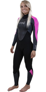 2019 O'neill Epic Das Mulheres 4/3mm Back Zip Gbs Wetsuit Preto / Berry 4214