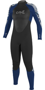 O'Neill Womens Epic 5/4mm Back Zip GBS Wetsuit BLACK / Navy 4218