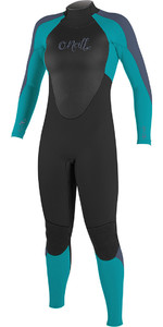 2018 O'Neill Youth Girls Epic 5 / 4mm Cremallera trasera GBS Wetsuit Negro / Niebla 4219G
