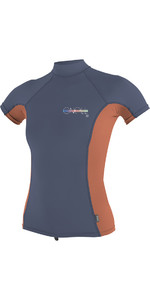 O'neill Damen Premium Skins Kurzarm Turtle Neck Rash Tee Mist / Coral 4519