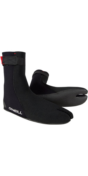 2019 O'Neill Heat Ninja 3 mm Split Toe Boot Schwarz 4786