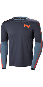 2019 Helly Hansen Lifa Aktiv Crew Long Sleeve Base Layer Graphite Blue 48308