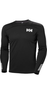 2019 Helly Hansen Mens Lifa Active Crew Long Sleeve Base Layer Black 48308