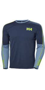 2019 Helly Hansen Mens Lifa Active Crew Long Sleeve Base Layer Graphite Blue Navy 48308