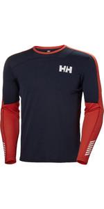 2019 Helly Hansen Homme, Lifa, Active Crew , Manche Longue, Sous-couche, Navy 48308