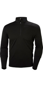 2019 Helly Hansen Lifa Aktiv 1/2 Zip Light Long Sleeve Base Layer Black 48309