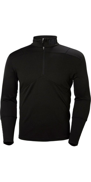 2019 Helly Hansen Lifa Active 1/2 Zip Light Langarm Basisschicht Schwarz 48309