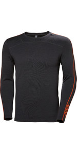 2019 Helly Hansen Mens Lifa Merino Crew Top Ebony 48316