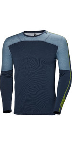 2019 Helly Hansen Mens Lifa Merino Crew Top Graphite Blue 48316