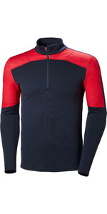 2019 Helly Hansen Lifa Merino Max Half Zip Top Navy 48318