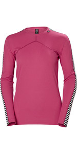 2019 Helly Hansen Donna Hh Lifa L / S Crew Base Layer Dragon Fruit 48326
