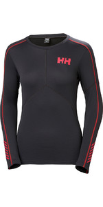 2019 Helly Hansen Frauen Lifa Active Crew Light Langarm T Shirt Ebenholz 48334