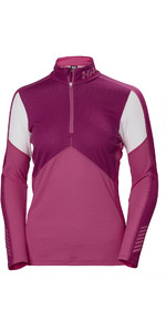 2019 Helly Hansen Ladies Lifa Active Half Zip Top Dragon Fruit 48335