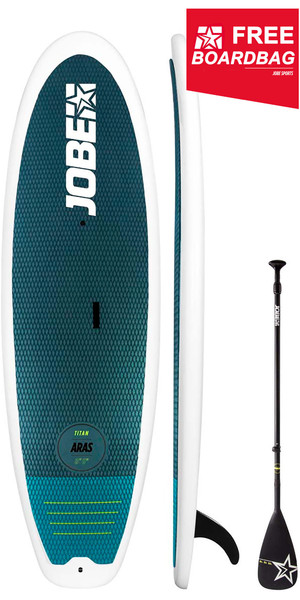 "2019 Jobe Titan Aras 8'6 ""Stand Up Paddle Board INC 3-teiliges Fiberglas Paddel & Boardbag 486617001"