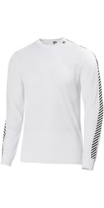 2019 Helly Hansen Lifa Stripe girocollo Base Layer LS Top White 48800