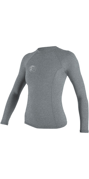 2018 O'Neill Womens Hybrid Long Sleeve Surf Tee Cool Grey 4893