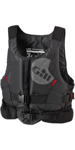 2019 Gill Junior Pro Racer Drijfhulpmiddel Met Front Zip Zwart - 4917j