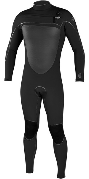 2018 O'Neill Psycho Freak 4/3mm Chest Zip Wetsuit BLACK 4960