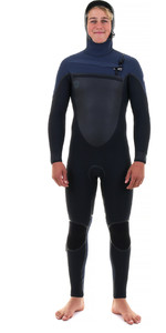 2019 O'Neill Youth Mutant 5/4 / 3mm Hættetrøje Zip Wetsuit BLACK / SLATE 4969