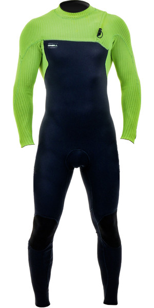 2019 O'Neill Mens HyperFreak Comp 4 / 3mm Zipperless Wetsuit Abismo / Dia Glo 4971