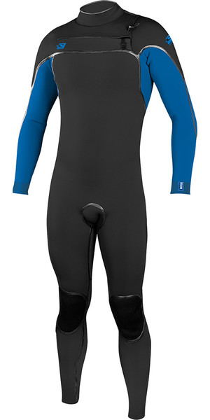 2018 O'Neill Psycho One 5/4mm Chest Zip Wetsuit Black / Ocean 4993