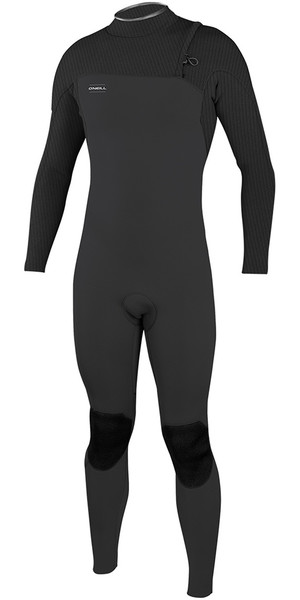 2018 O'Neill HyperFreak Comp 5 / 4mm Zipperless Wetsuit Midnite Oil / Graphite 5005