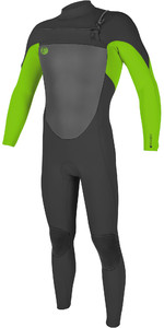 2019 O'Neill O'riginal 3/2mm Chest Zip Wetsuit Graphite / Day Glo 5011