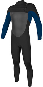 O'Neill O'riginal 4/3mm Chest Zip Wetsuit Black / Deep Sea 5012