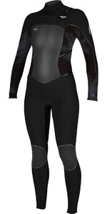 O'Neill Womensuit Psycho Tech 4 / 3mm Peito Zip Wetsuit PRETO / Névoa 5029