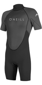 2021 O'Neill Reactor II 2mm Back Zip Shorty Wetsuit BLACK / Graphite 5041