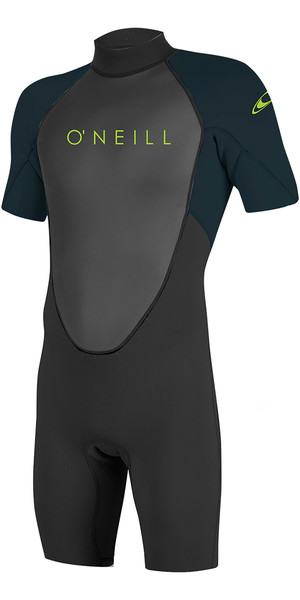 2019 O'Neill Youth Reactor II 2mm Back Zip Shorty Wetsuit Black / Slate 5045